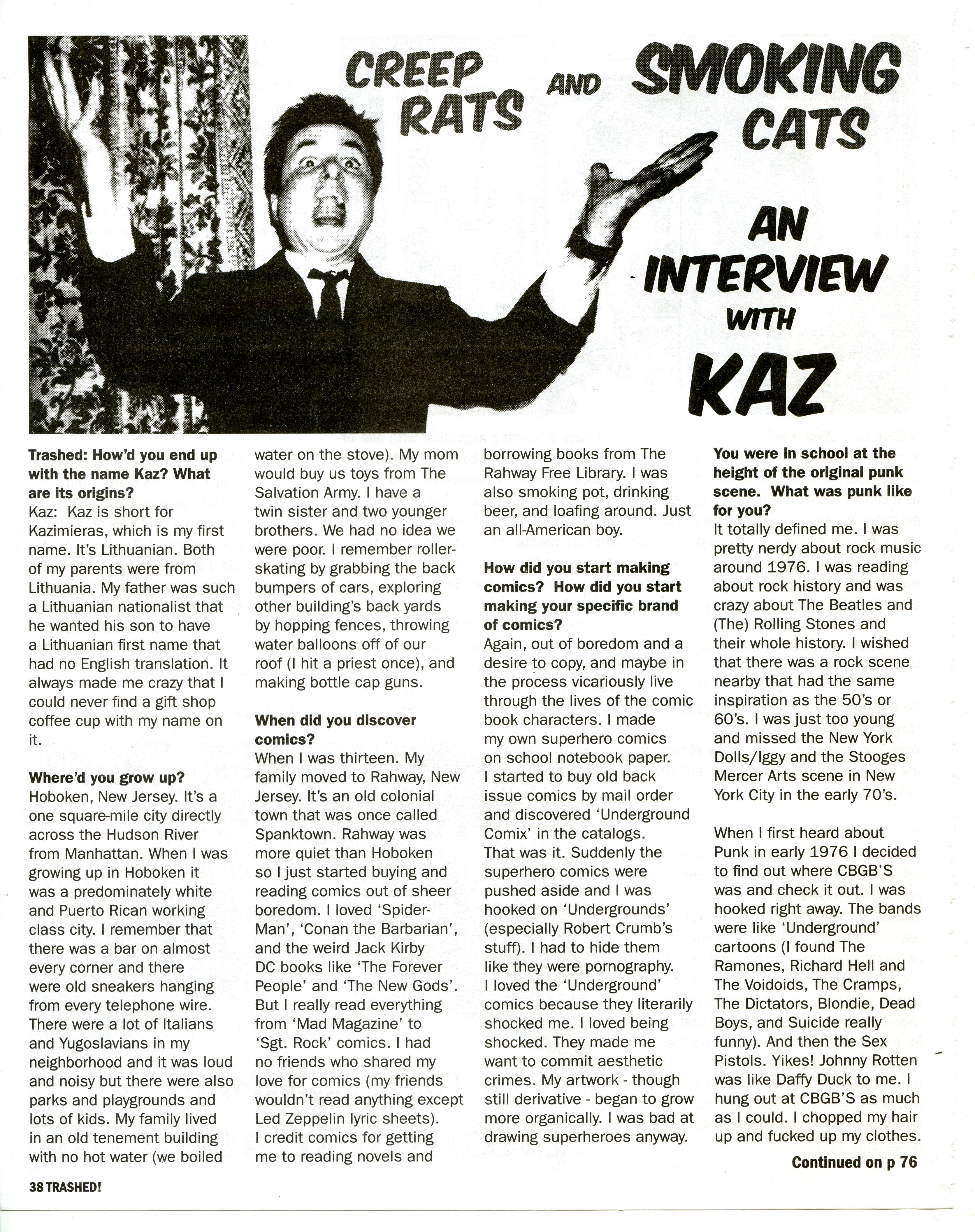 Trashed Interview pg.1 Trashed Magazine   Interview