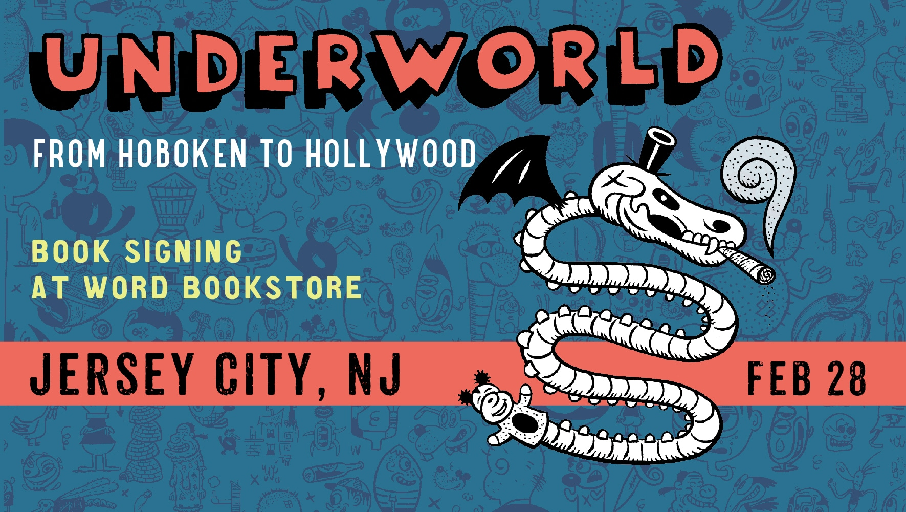 Underworld Book signing at Word Bookstore Jersey City Feb 28