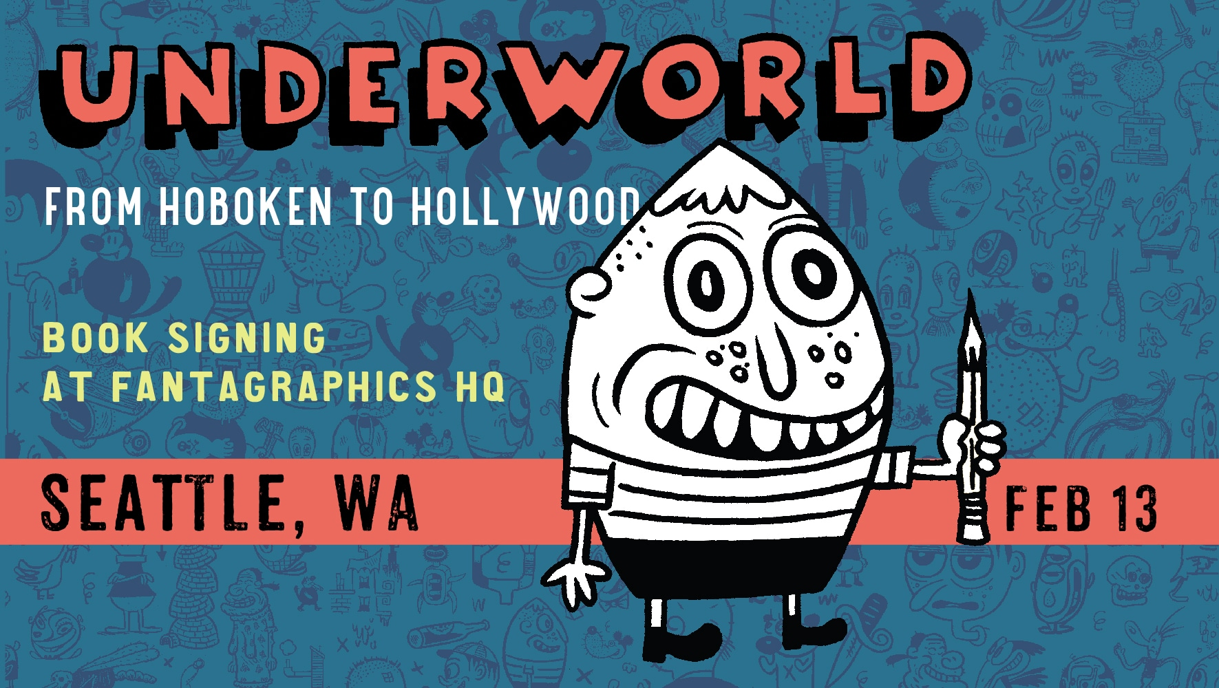 Book signing at Fantagraphics in Seattle Feb 13